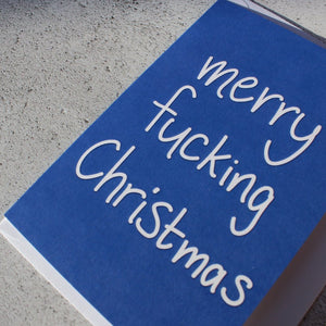 'Merry Fucking Christmas' Christmas Card - fay-dixon-design