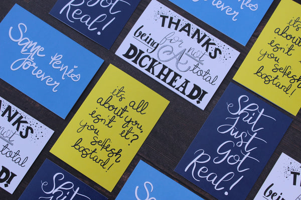 'Thanks for not being a Total Dickhead' Greeting Card - fay-dixon-design