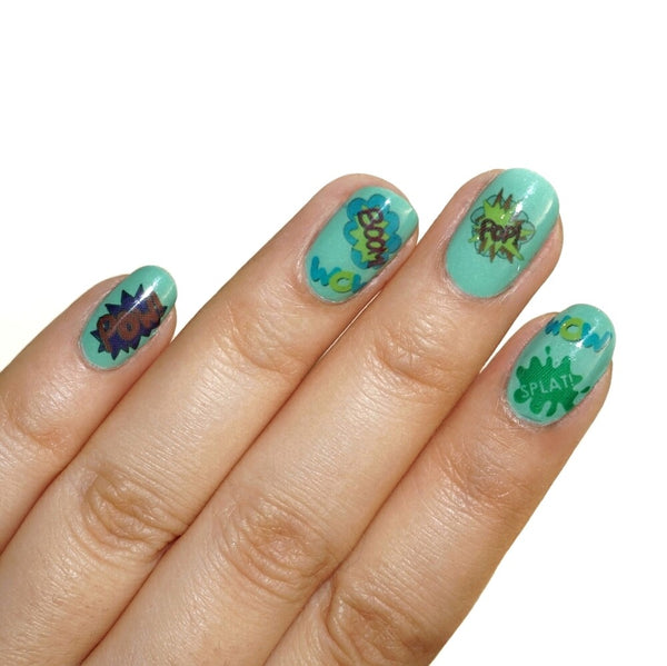 Pop Art Explosion Nail Tattoos - fay-dixon-design