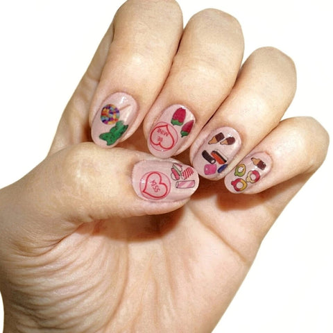 Sweets and Candy Nail Tattoos