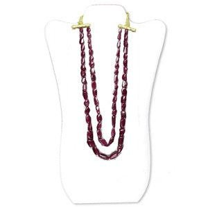 580 Carats Ruby Beads Necklace