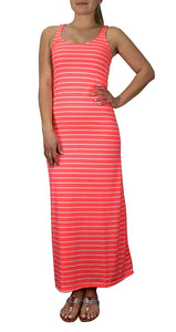 Peach Couture Racer back Maxi Dress