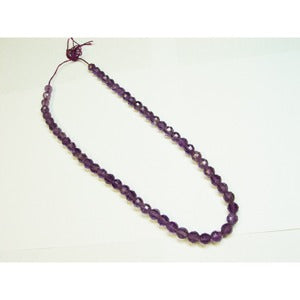 6-6.5 mm Faceted Amethyst Bead Strand 16 Inch