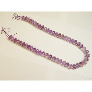 14-15 mm Faceted Amethyst Bead Strand 18 Inch