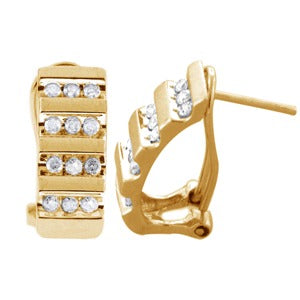 0.50 Carat White Diamond Earrings 10k Gold