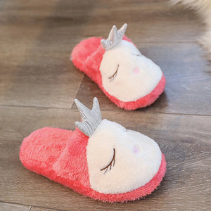 Indoor House Slippers Cute Cartoon Soft Plush