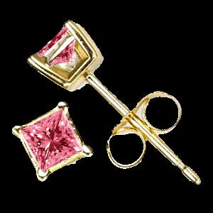 0.60 Ct Twt Pink Diamond Earrings in 14k