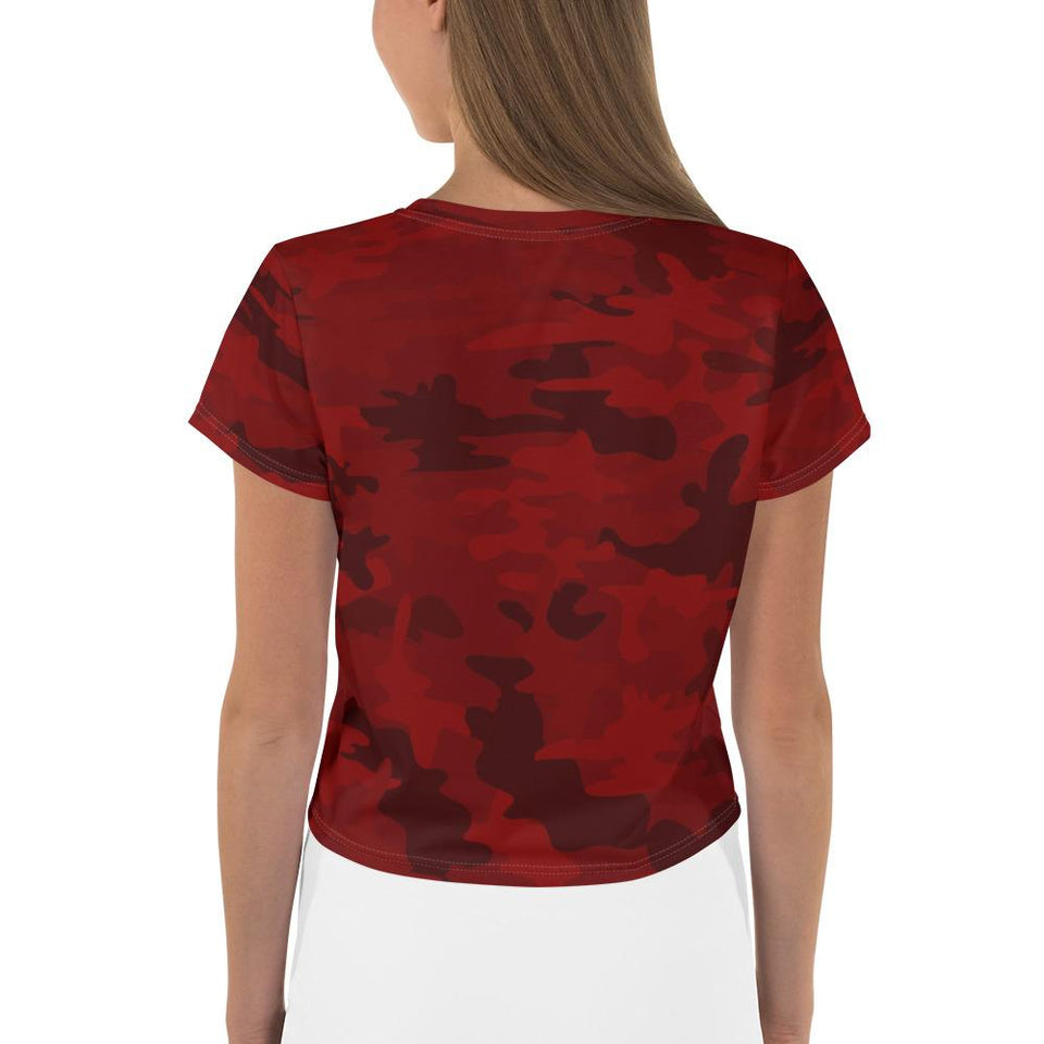 Red Camo Cropped Top