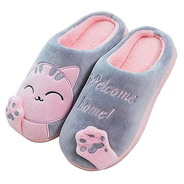 Winter Home Slippers For Cat Lovers