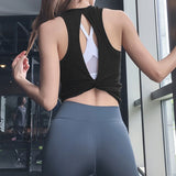 Women's Open Back Workout Tops
