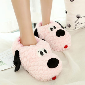 Puppy Cartoon Winter Home Slipper