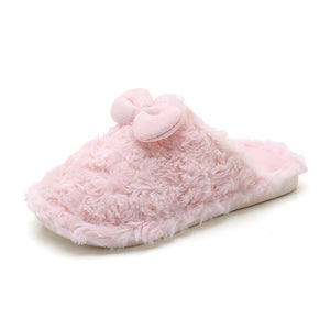 Fur slippers for kids