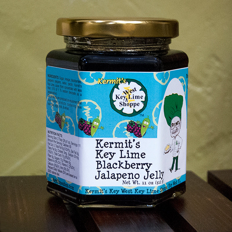Kermit's Key Lime Blackberry Jalapeno Jelly