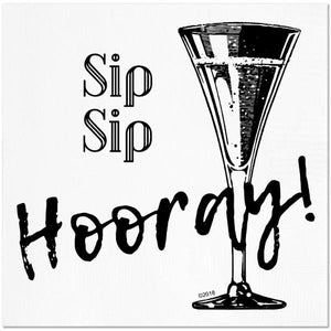 Sip Sip Hooray Cocktail Napkins