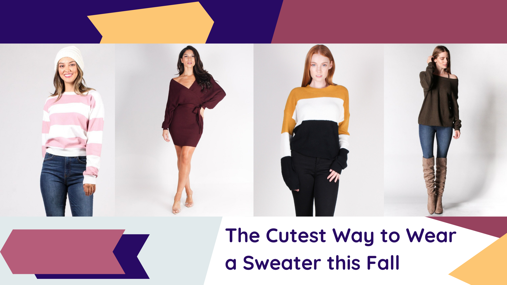 The Cutest Way to Wear a Sweater this Fall