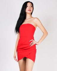 Enjoy Every Pleating Moment Strapless Dress