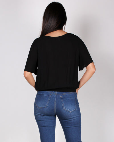 Fashion Q Shop Q Unplug and Free Yourself Blouse (Black) 17000