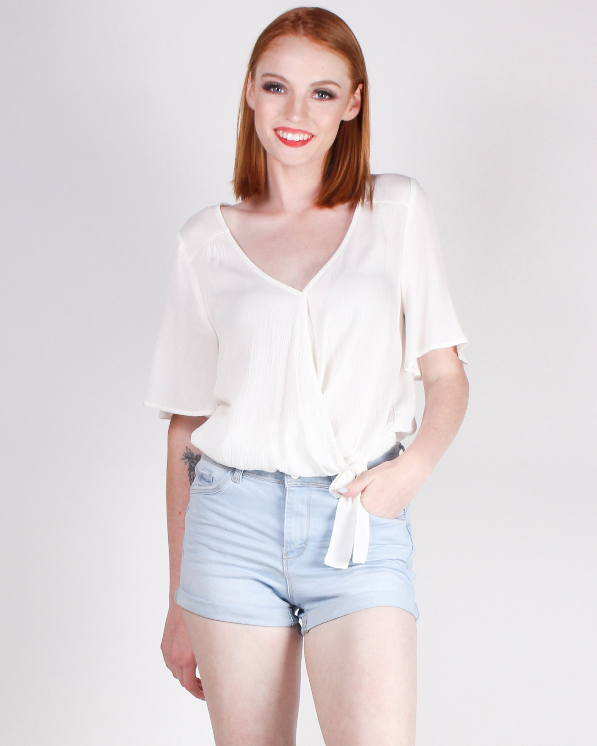 Fashion Q Shop Q Unplug and Free Yourself Blouse (Off White) 17000