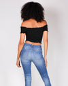 Fashion Q Shop Q I Regret Nothing Smocked Tube Top (Black) 2294TK