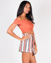 Fashion Q Shop Q I Regret Nothing Smocked Tube Top (Rust) 2294TK