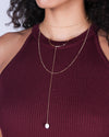 Shine like the Universe is Yours Layered Gold Necklace 41771N