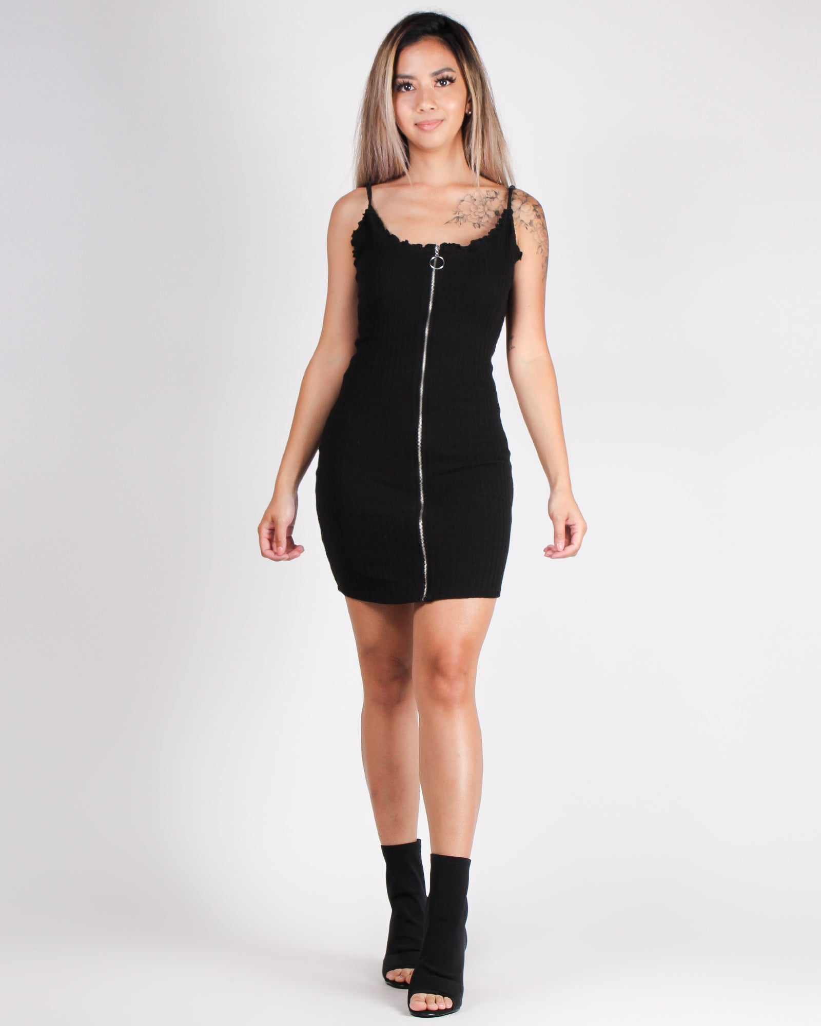 Take a Bow Bodycon Dress (Black)