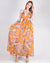 A Little Magic Floral Maxi Dress (Orange)