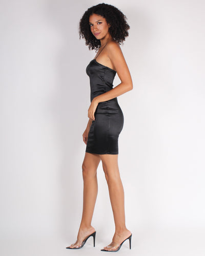 Never Lose Your Sense of Wonder Bodycon Dress (Black)