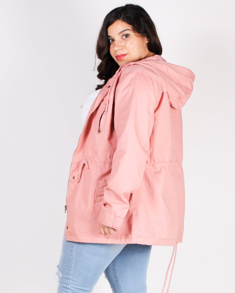 Love the Way You Look Parka Plus Jacket (Mauve)