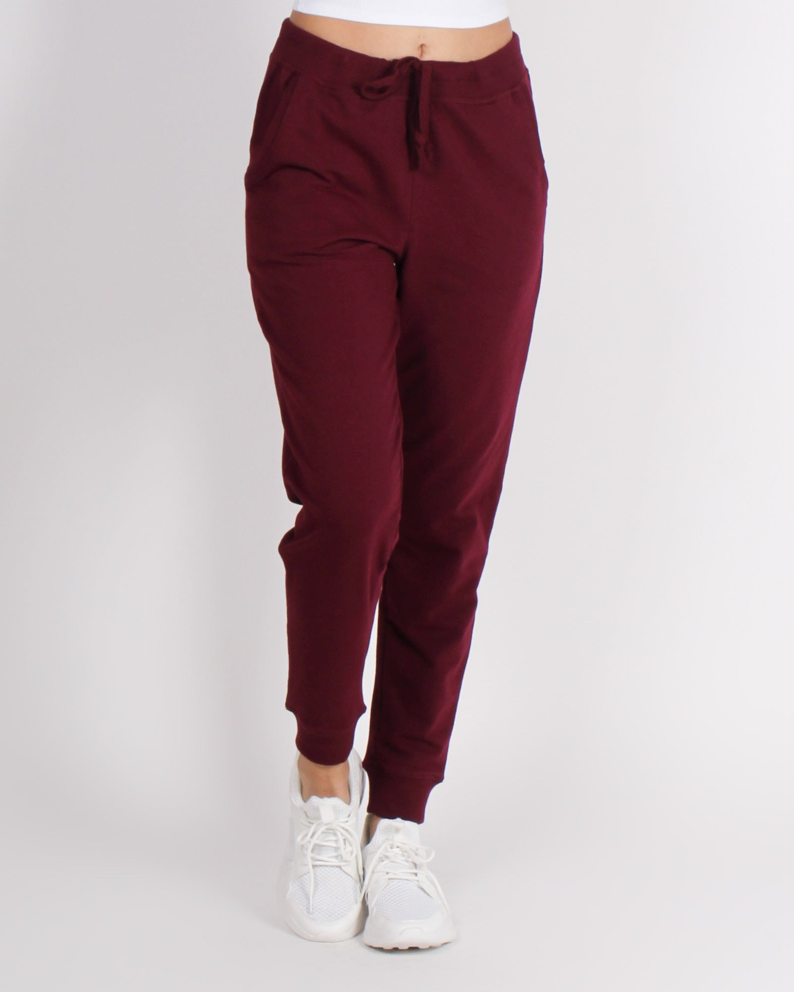 Fashion Q Shop Q Bombastic Love Jogger Pants (Burgundy) 65776