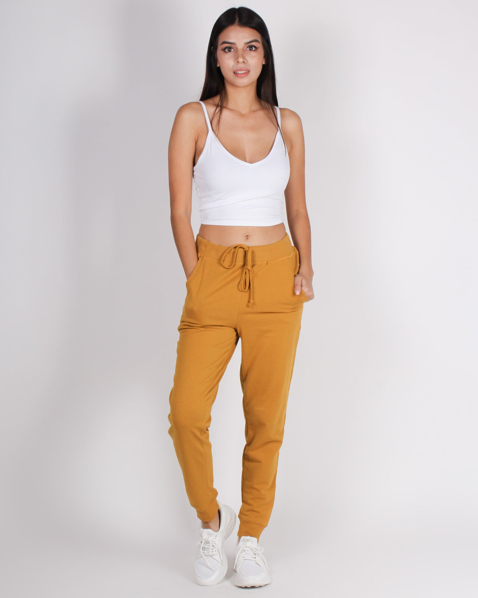 Fashion Q Shop Q Bombastic Love Jogger Pants (Mustard) 65776