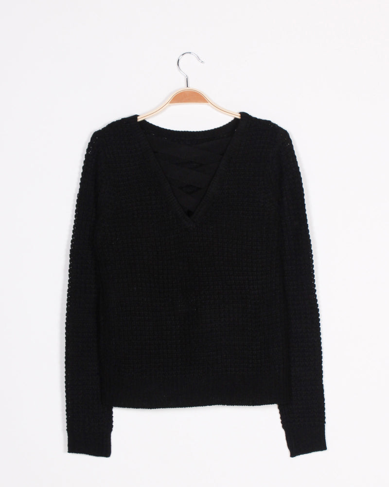Fashion Q Shop Q Poetry in the Air Knit Sweater (Black) 68883