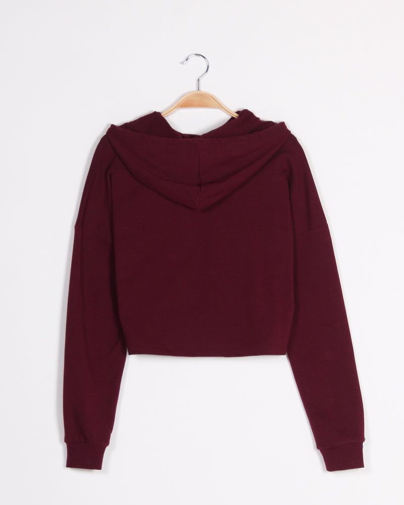 Fashion Q Shop Q Oh Something So Good Hoodie  (Burgundy) 70677