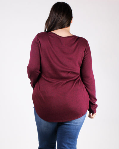 Something Sweet Long Sleeve Plus Top