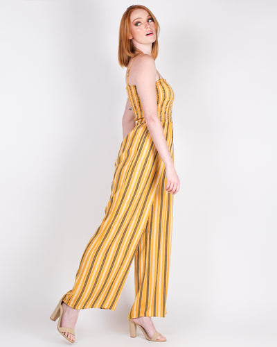Striping Worth it Jumpsuit (Mustard)