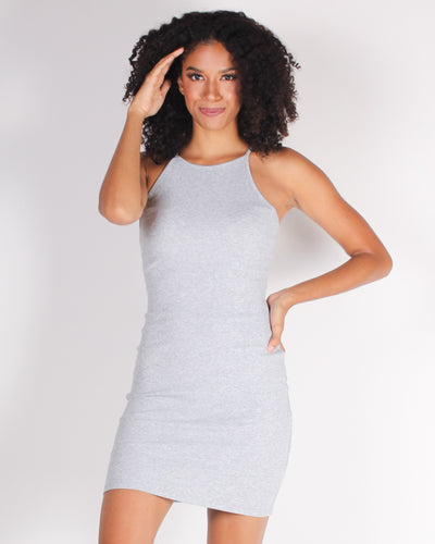 It All Starts with a  Bodycon Dress (Heather Grey)
