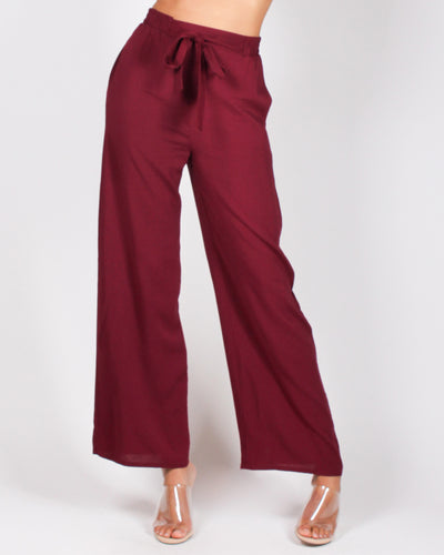 Fashion Q Shop Q Put Your Sassy Pants on High Waisted Trousers (Burgundy) 71120