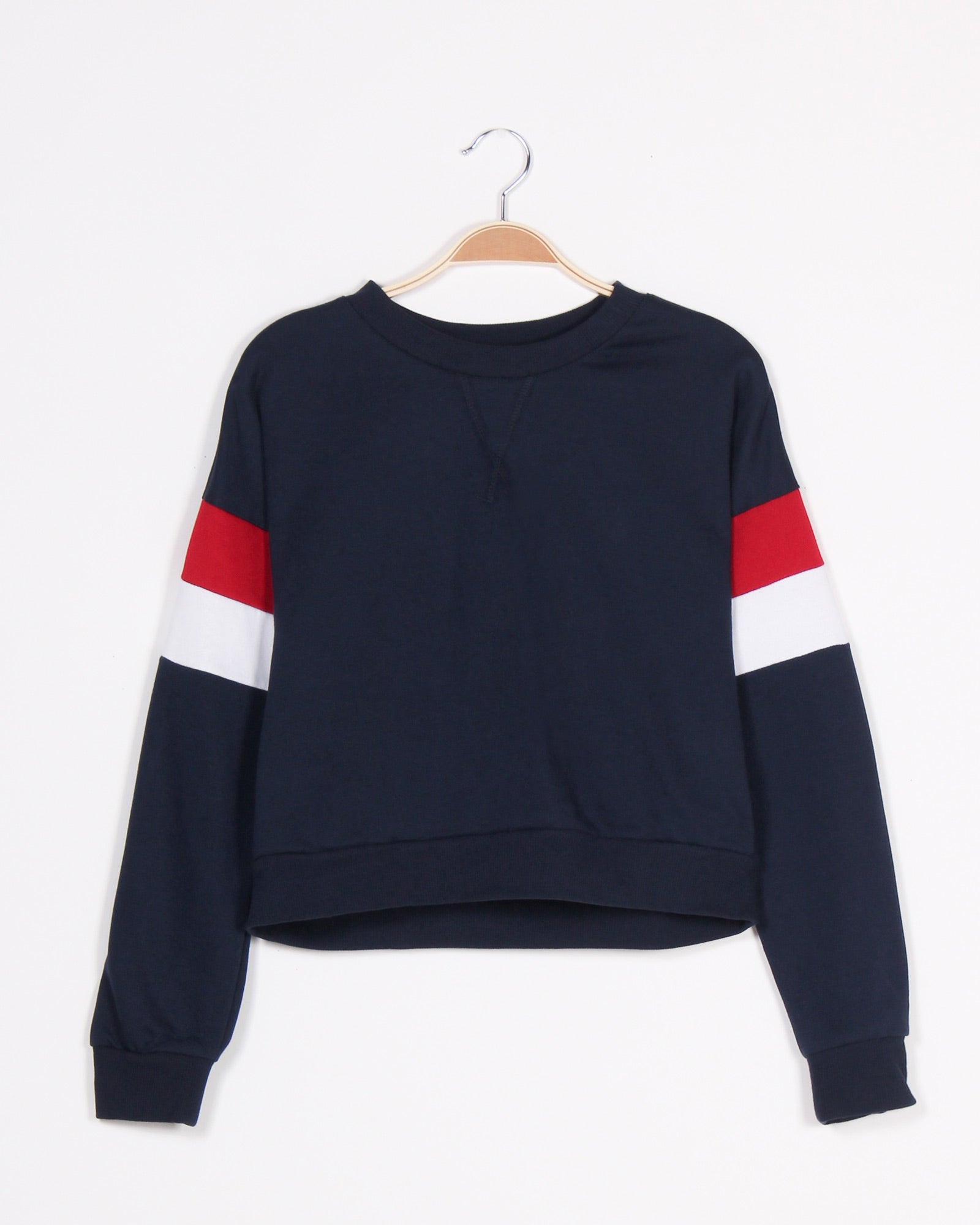 Fashion Q Shop Q Never Give Up Colorblock Sweater (Navy) 71290