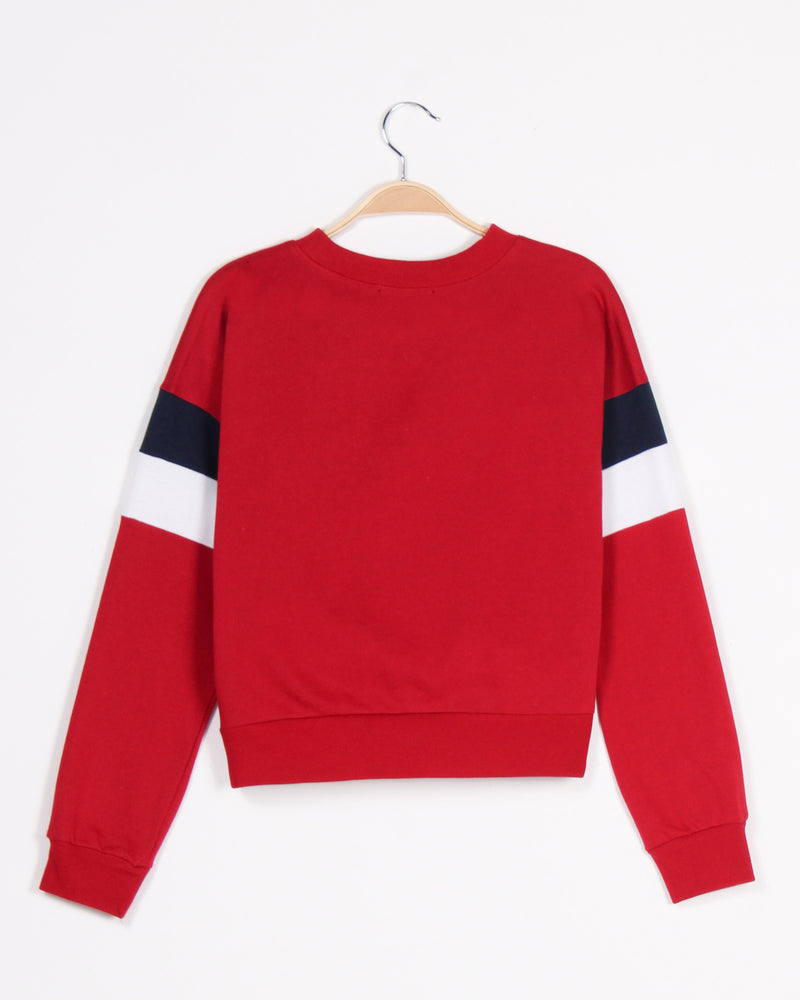 Fashion Q Shop Q Never Give Up Colorblock Sweater (Red) 71290