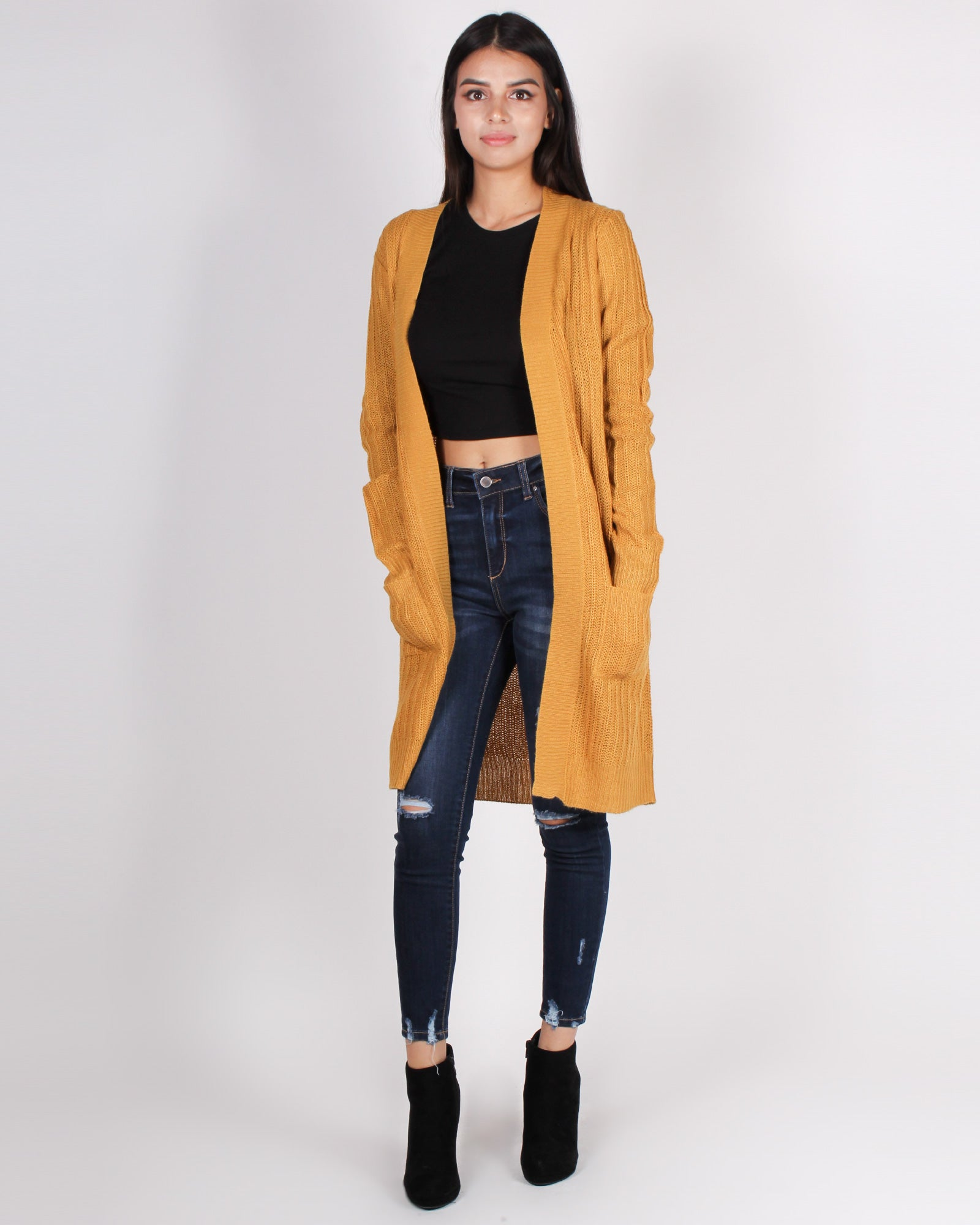 Fashion Q Shop Q Mysterious Air About You Cardigan (Mustard) 71437