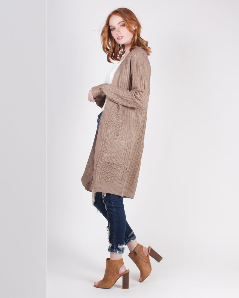 Mysterious Air About You Cardigan (Mocha)