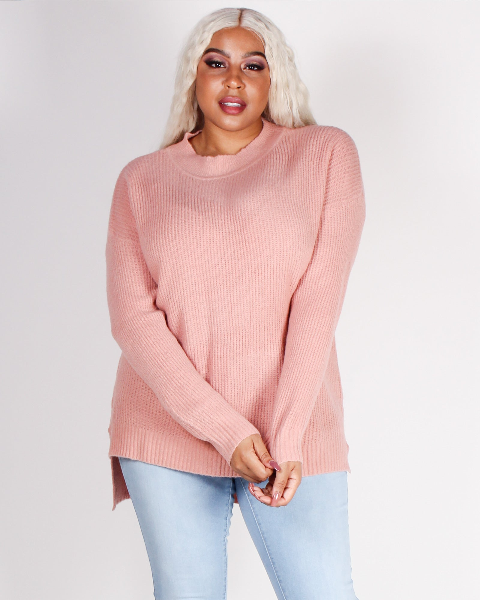 Fashion Q Shop Q A Soft Reminder Plus Sweater (Mauve) 71458XL