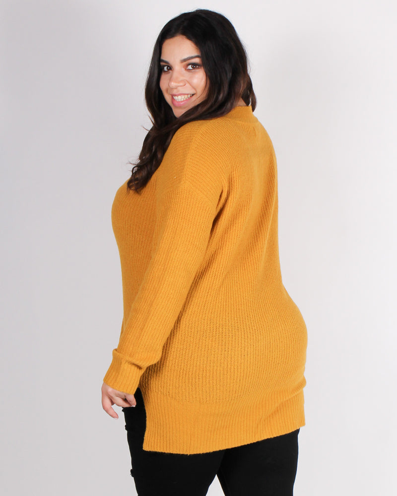 Fashion Q Shop Q A Soft Reminder Plus Sweater (Mustard) 71458XL