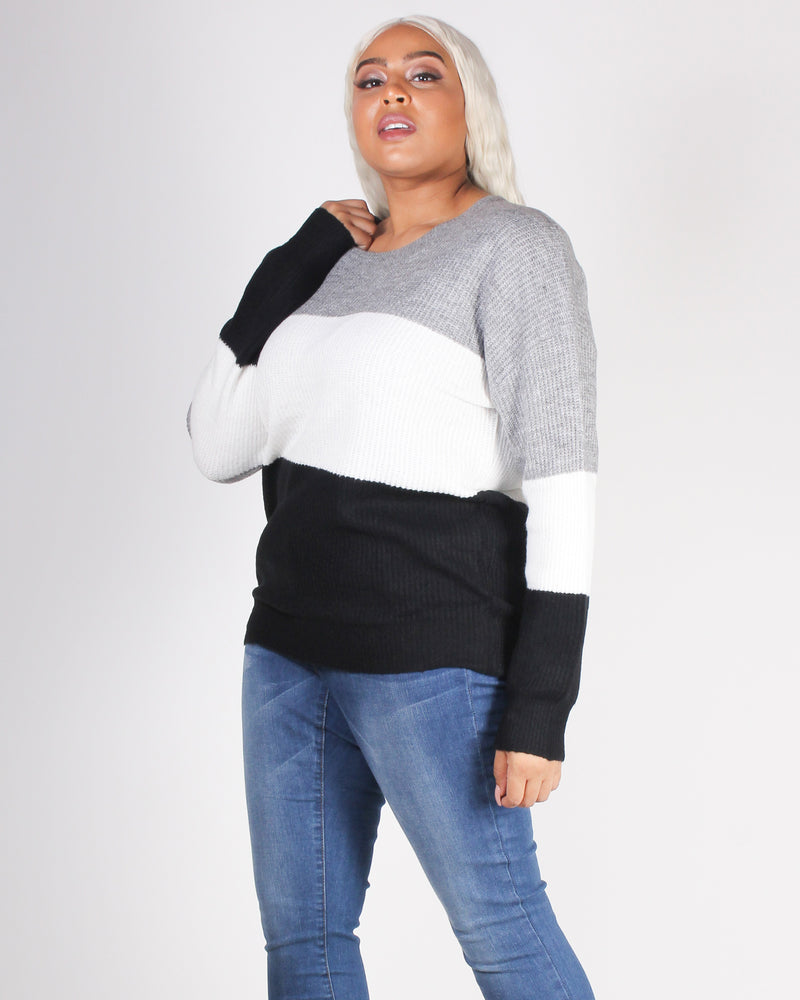 Fashion Q Shop Q You're Such a Softy Plus Sweater (Grey) 71491XL