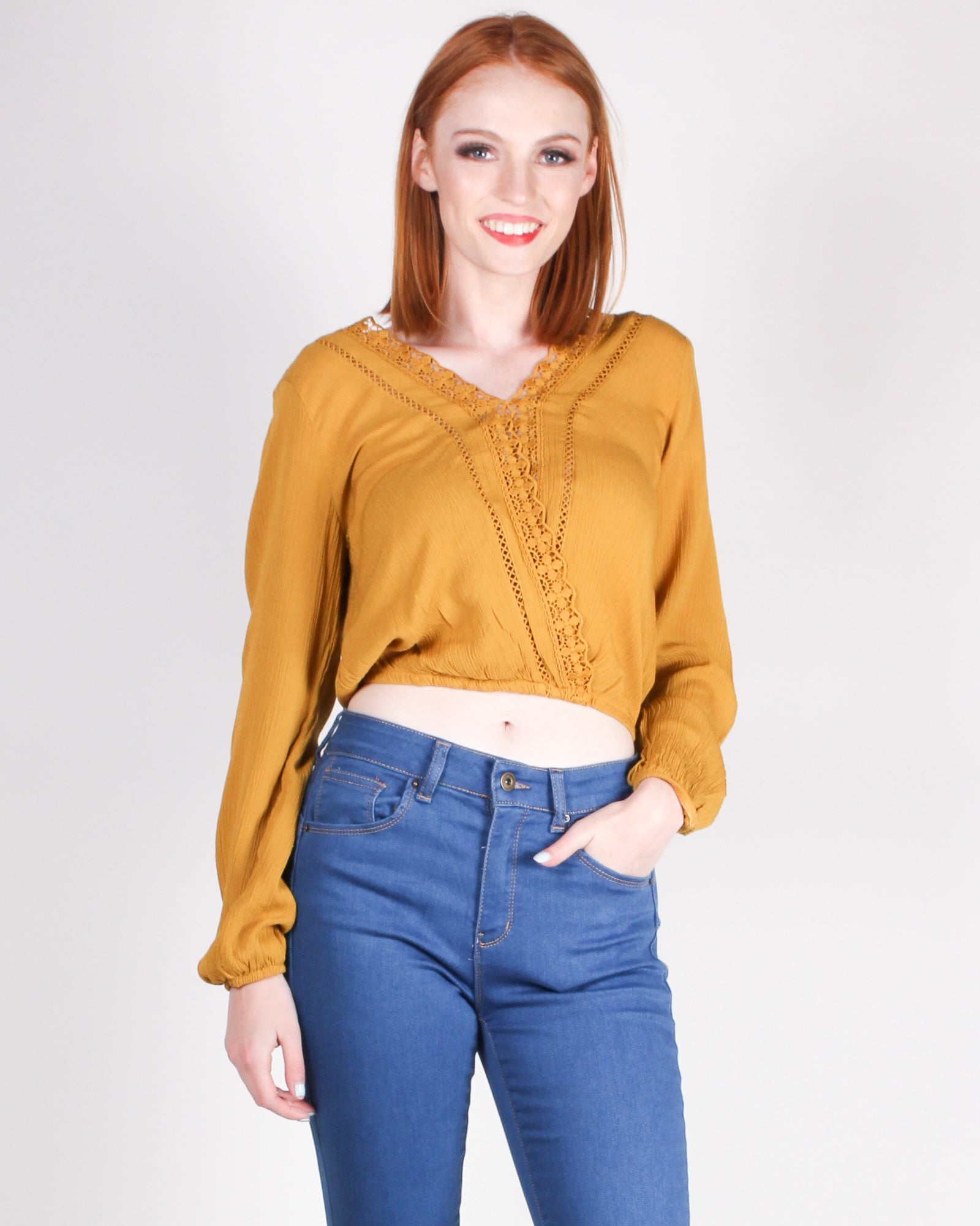 Beautiful Paths Leads to You Blouse (Mustard)