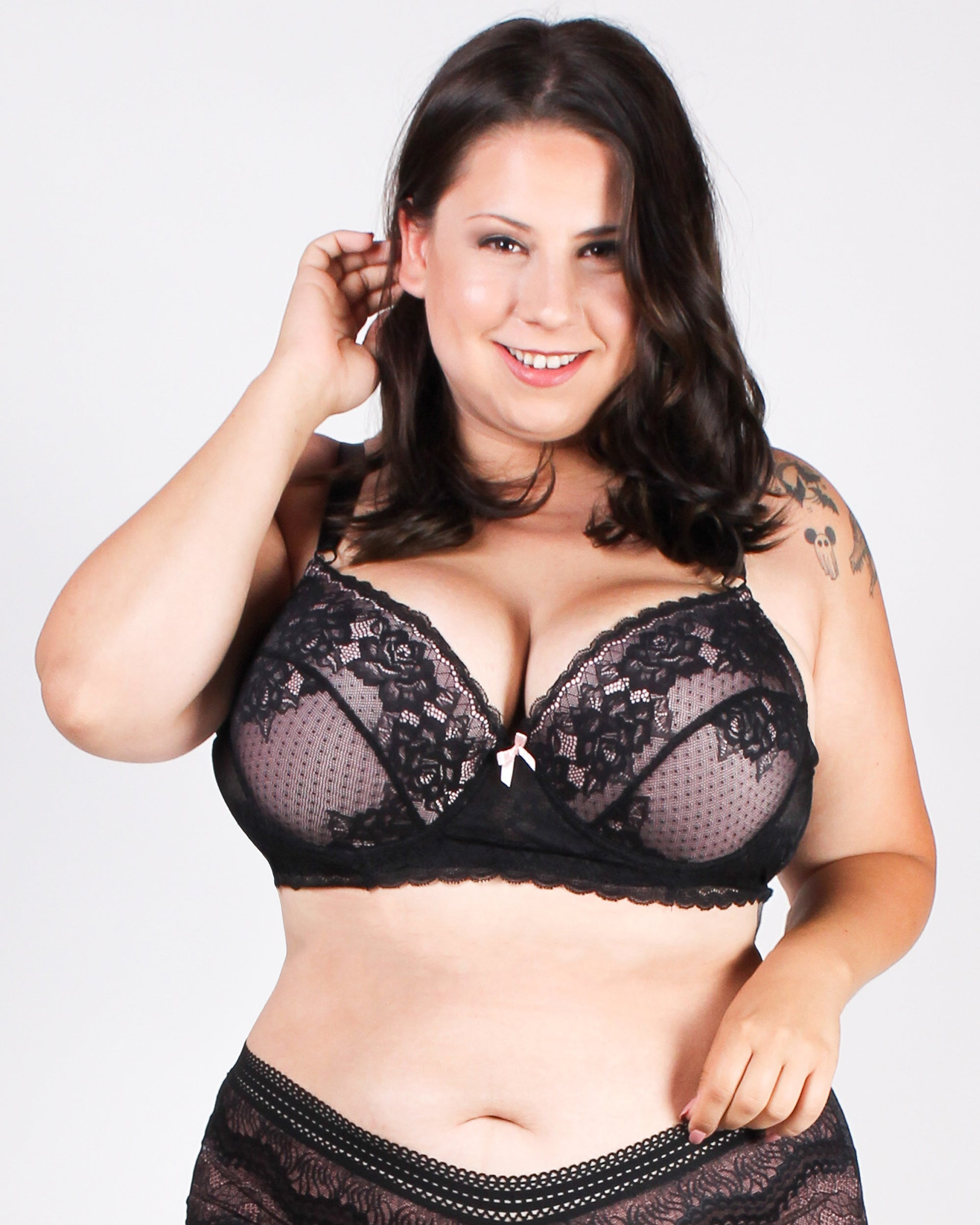 Revel in it Lace Plus Bra (Nude)