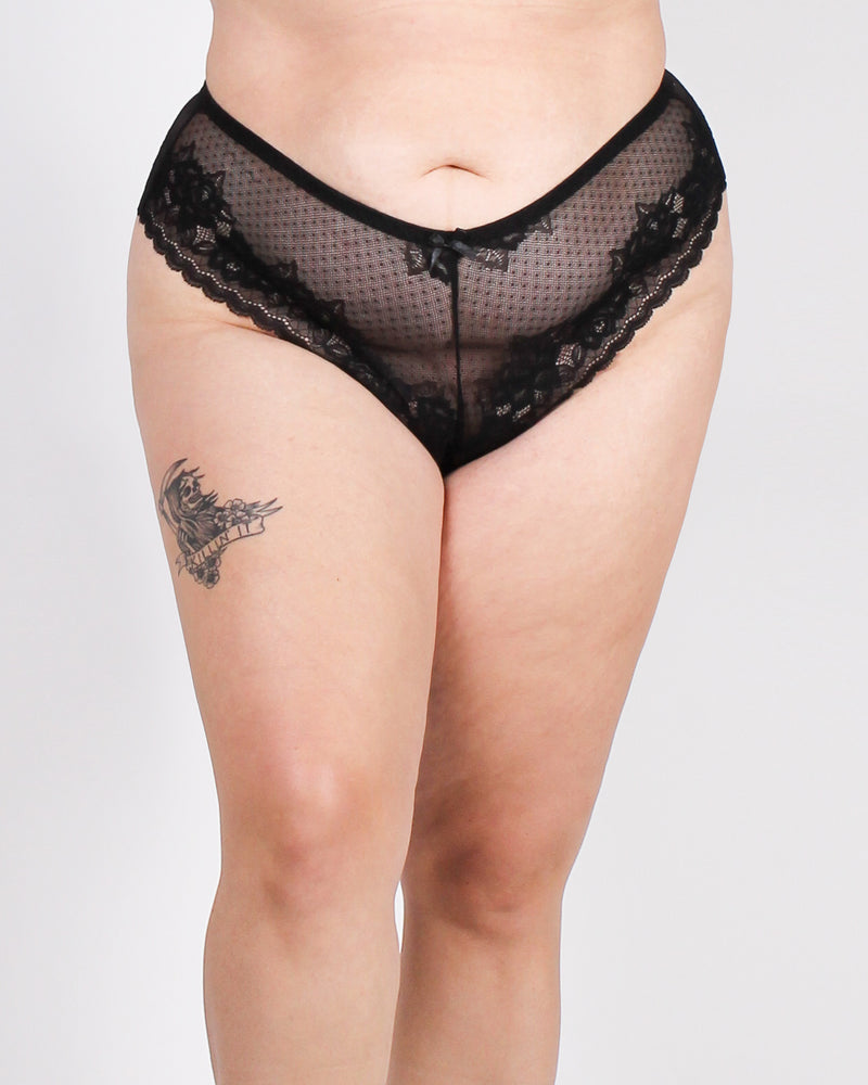Million Dreams Await Tanga Plus Panties (Black)