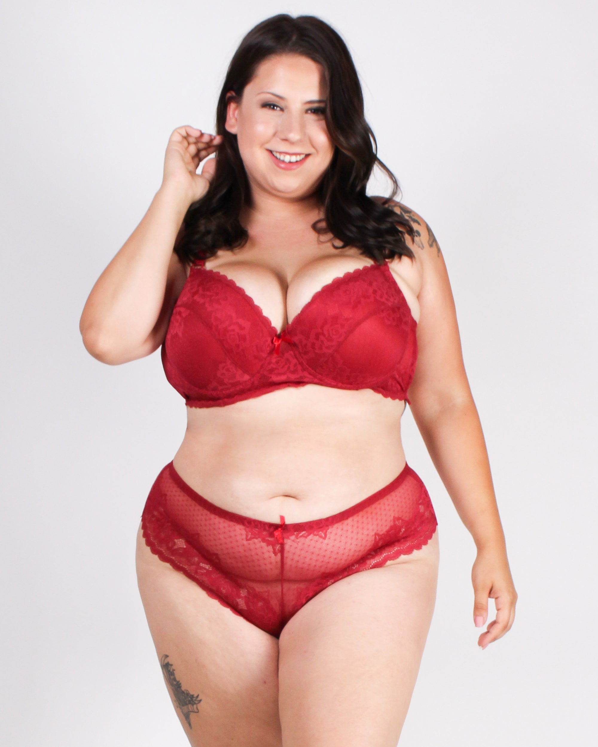 Million Dreams Await Tanga Plus Panties (Burgundy)