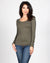 Fashion Q Shop Q The Q Basics: Round Neck Long Sleeve Top (Olive) 8008-IJ