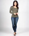 The Q Basics: Round Neck Long Sleeve Top